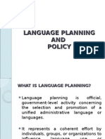 Language Planning and Policy