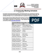 St Charles Press Release Facilities CommunitySchedule
