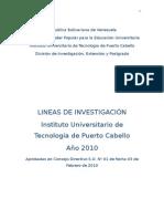 Informe Lineas de Investigacion 2010 (Correciones)