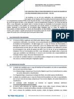 Edital da Procuradoria Geral do Estado de Rondônia