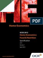 Home Economics Food Nutrition
