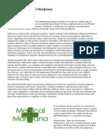 Developing Medical Marijuana