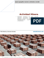 Actividad Mineria en Chile