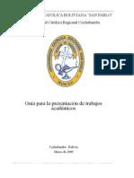 UCB Guia Academica 2009
