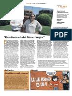 Maria Favà sobre Sara Grimal i Alonso Carnicer. Contraportada Carrer num. 137.