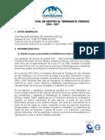 Informe Cuatridenio 2004-2007