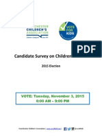 2015 Vote for Kids Candidate Response