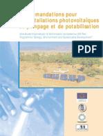 Fondem Recommandations Pompage Potabilisation Photovoltaique