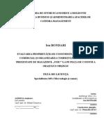 """Evaluarea proprietăților consumiste, sortimentului comercial și organizarea comerțului scanerelor oferite de magazinul """"UNIС"""" S.A pe piața de consum a orașului Chișinău"""