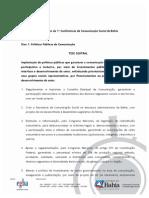 Resolucoes da Conferência de Comunicação da Bahia 2009
