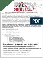 ALDAKETARAKO ABIAPUNTUA (octavilla)