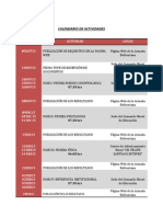 Calendario de Actividades para Asimilación en la Armada - Notilogia