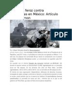 Violencia Feroz Contra Periodistas en México