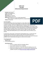 Introduction to Academic Writing Syllabus