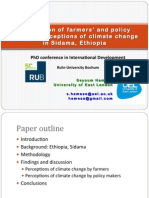 PPT Farmers and Policy Makers' Preceptions of Climate Change