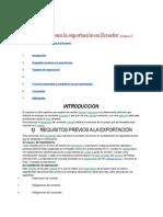 Breve Manual Para La Exportación en Ecuador