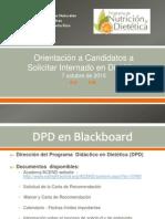 DPD - Orientacion Candidatos a Sollicitar Internados, 7 Oct 2015