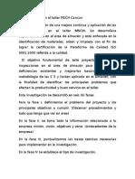 Plan de Trabajo en El Taller MSCH Cancún