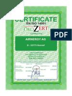 Certificado 14001 En