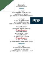 Ay Mujer - Letra