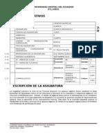 Syllabus de Orgánica II