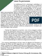 Articulo -Penser La Personne -Seinte (No Dice La Publicacion)