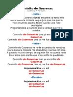 Caminito de Guarenas - Letra