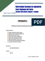 Informe de Campo - Topografía II