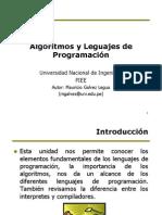 U01 Algoritmos y Lenguajes de Programacion