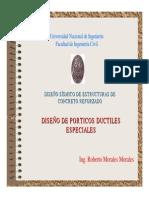 Diseño de Pórticos Ductiles Especiales -Ing Roberto Morales Morales
