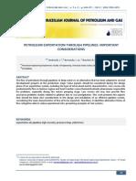 PETROLEUM EXPORTATION THROUGH PIPELINES