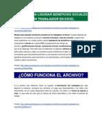 Modelo Para Liquidar Beneficios Sociales de Un Trabajador en Excel