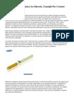 La Sigaretta Elettronica In Libreria, Consigli Per L'estate