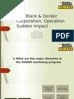 Black & Decker Case Solution