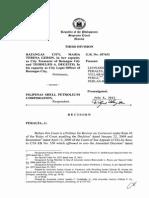 Batangas City vs Pilipinas Shell Corp