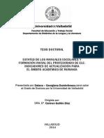 Daiana Georgiana Dumbravescu, ESTATUS DE LOS MANUALES ESCOLARES Y FORMACIÓN INICIAL DEL PROFESORADO DE ELE