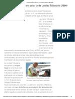 Evolución Histórica Del Valor de La Unidad Tributaria (1994-2015)
