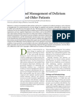 Evaluation and Management of Delirium Hospitalized Elderly Am Fam Physician 2008
