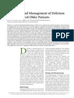 Evaluation and Management of Delirium Hospitalized Elderly Am Fam Physician 2008