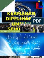 Keamanan Dipelihara Ummah sejahtera