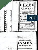 The Lives of the Illustrious Romans - Sextus Aurelius Victor 1693