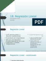 18. Regresión Lineal