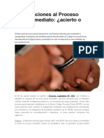 Modificaciones Al Proceso Penal Inmediato