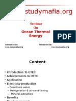 Mech Ocean Thermal Energy Ppt