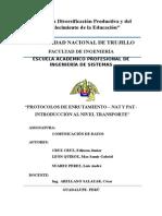 Caratula Informe Comunicación de Datos