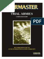 Warmaster Trial Armies 2009
