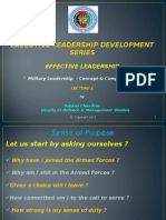 Effective Leadership Lec 1 -Mission Driven ( Military) Leadership Concepts & Competencies