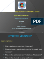Effective Leadership Lec 2 'Leadership Equation'