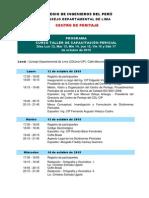 Programa Curso Taller Capacitación Pericial (Octubre 2015)