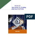 Shielded Metal Arc Welding Mild Steel II (E7018)